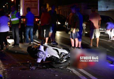 Αργολίδα: Δύο τραυματίες σε τροχαίο με μηχανάκια