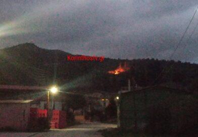 Φωτιά σε δασική έκταση στο Κουτσομόδι Νεμέας