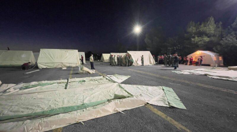 Σεισμός στην Κρήτη: Στήνονται σκηνές σε Αρκαλοχώρι και γύρω περιοχές